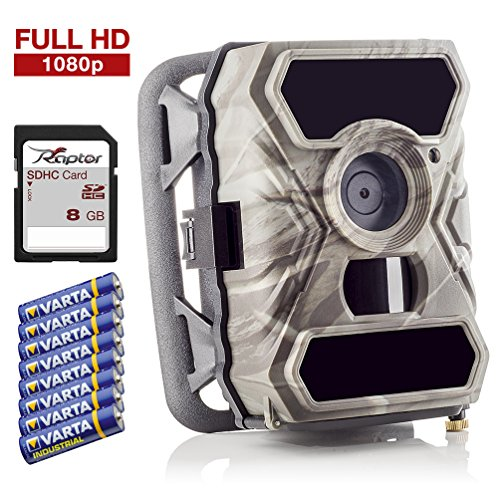 SecaCam RAPTOR Full HD 52 Degree Trail Camera | Surveillance Camera - Premium Pack by SecaCam