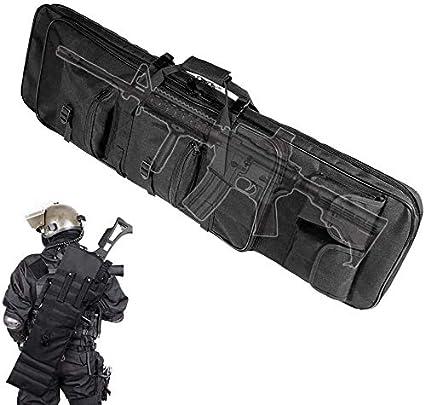 LXNQG Funda de Rifle de Caza, Bolsa de Pesca Duradera, Equipo de Guerra Militar Antideslizante Equipo de Gama Aire Gun Rifle Funda Protectora Bolsa, 100 cm