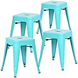 "Poly and Bark Trattoria 18"" Stool in Aqua (Set of 4)"