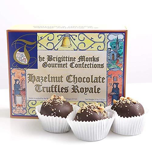 Single Malt Vanilla Wine - Brigittine Monks Hazelnut Chocolate Truffles Royale, box of 6