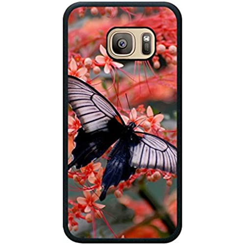 Minffc Unique With Butterfly On Pink Flowers Protective Case Cover For Samsung Galaxy S7 Sales