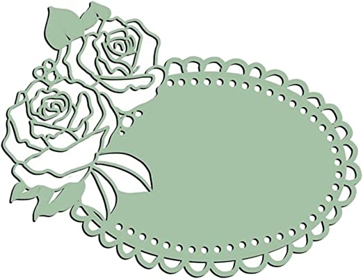 HaHawaii Rose Flower Cutting Dies DIY Scrapbooking Card Making Paper Craft Decor Silver