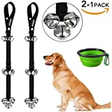 CATOOP Dog Bells for Potty Training, Adjustable Dog Bell Doorbells for Puppy Dog Training Jingle Bell for Dogs Cat Bell & with Collapsible Travel Pet Dog Cat Bowl, Lifetime Replacement Guarantee