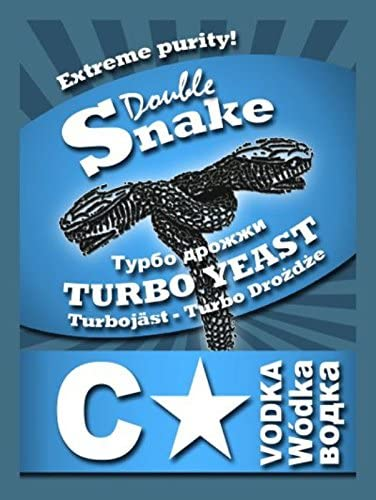 Double Snake C Star Turbo Yeast 25L Extreme Purity Homebrew Vodka Wash Moonshine