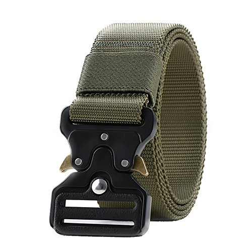 ywhchi Brands Heavy-Duty Quick-Release Tactical Military Buckle Tactical Belt by ywhchi