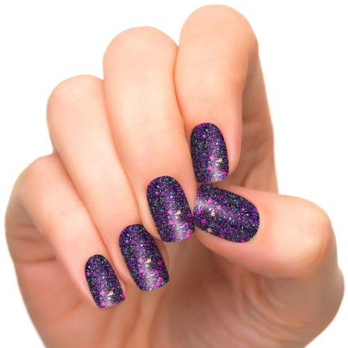 Incoco Nail Polish Strips, Glitter Nail Color, Galactic (Christmas Press On Nails)