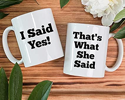 Buy Engagement Mug Set Of 2 Proposal Mugs Engagement Gift