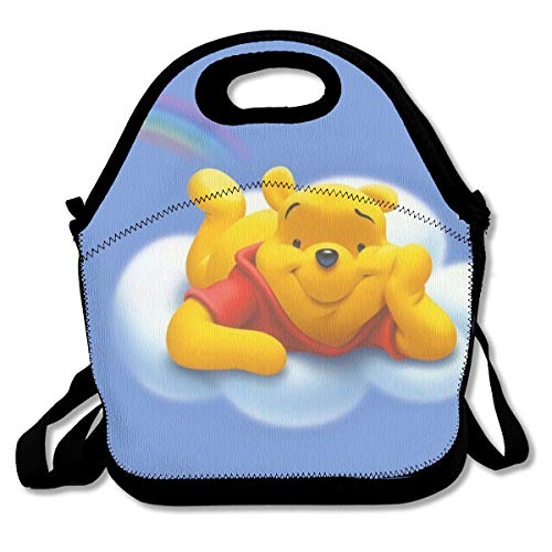 - LIUYAN Custom Portable Lunch Bag Flying Winnie Pooh Meal Prep Containers for Adults/Men/Women/Kids