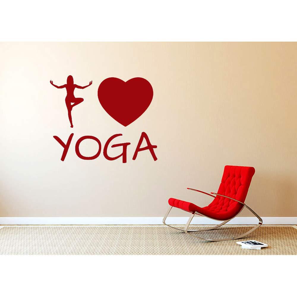 Tatuajes de pared Patrón creativo Yoga Corazón Decoración Amo Yoga ...