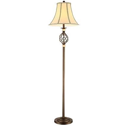 Lámpara de pie de Estilo Americano, Sala de Estar Dormitorio de Cama de Hierro Forjado