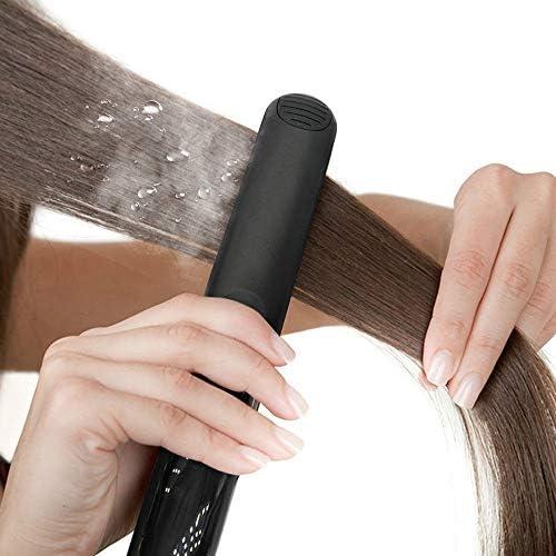 Steam Hair Straightener Ceramic Steam Hair Flat Iron Seam Straightening Iron Hair Curler Steamer Hair Styling Tool  DDcAh