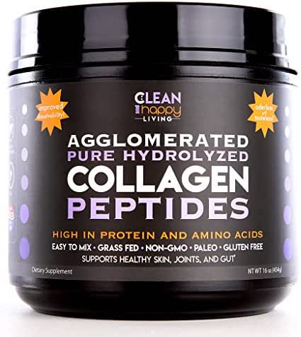 High Quality Grass-Fed Pasture Raised Pure Hydrolyzed Collagen Protein Powder Peptides Pure Unflavored