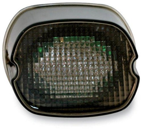 Custom Dynamics GEN2-LD-S-B License Plate Light (Black-Out LED Laydown Taillight Without for 1999-2016 Harley-Davidson Models)