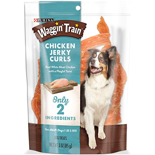 Purina Waggin' Train Chicken Jerky Curls Dog Treats – (6) 3 Oz. Pouches For Sale
