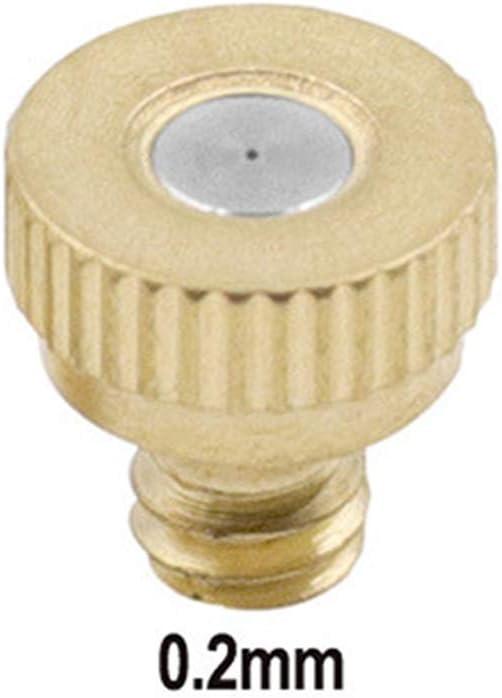 pulv/érisateur Buse de pulv/érisation en laiton avec sac de rangement 0,3 mm 0,2 mm bouchon anti-goutte 0,4 mm filtre /à brume 0,5 mm buse de pulv/érisation de 0,1 mm