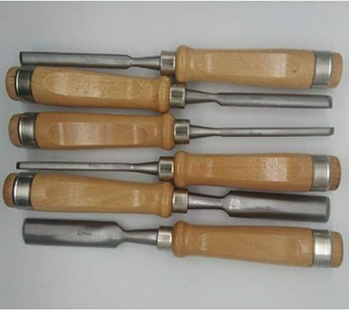 Talla De Madera Del Form/ón Cincel Tallando Las Herramientas Conjunto De 6 Cinceles Y Gubias Para Trabajar La Madera DIY Mallet-Talla