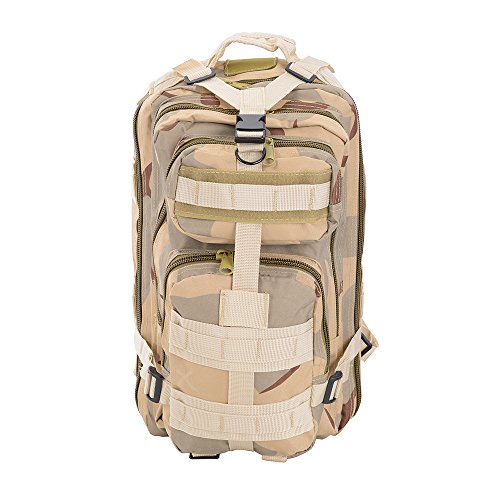 AW 30L 600D Tactical Army Rucksacks Molle Backpack Waterproof Camping Outdoor Hiking Trekking Bag Desert Camouflage