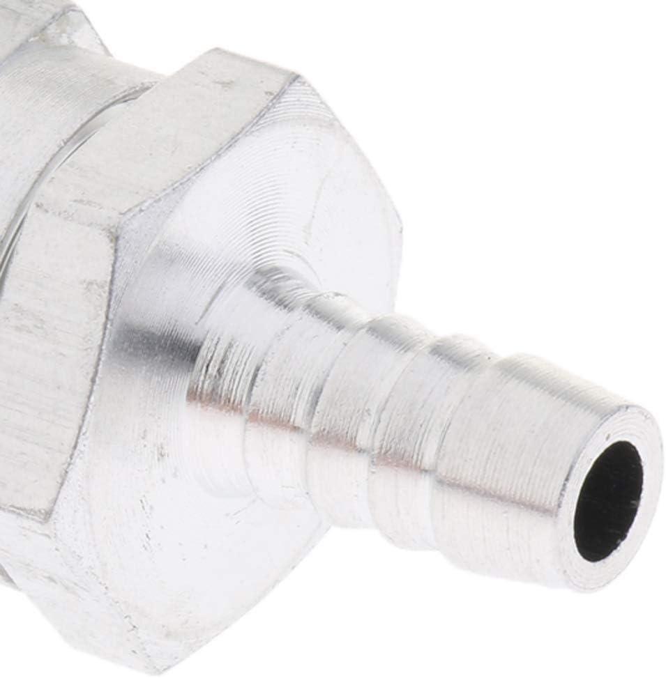 8mm B Blesiya 0.24-0.47 Aluminium Alloy Non Return One Way Check Valve Fuel Diesel Oil