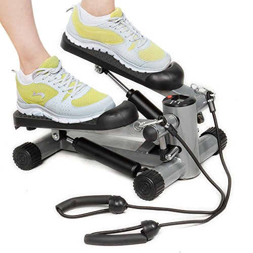 Costway Aerobic Fitness Step Air Stair Climber Stepper Exercise Machine New Equipment with Resistance Bands