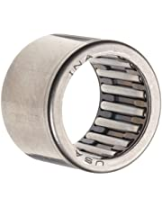 "INA SCE98 Needle Roller Bearing, Caged Drawn Cup, Steel Cage, Open End, Inch, 9/16"" ID, 3/4"" OD, 1/2"" Width, 19600rpm Maximum Rotational Speed, 2420lbf Static Load Capacity, 1730lbf Dynamic Load Capacity"