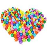 Aunavey 50/ 100pcs Free BPA Free Crush Proof Plastic Ocean Ball, Pit Balls