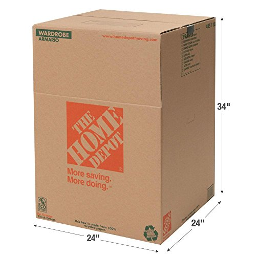 The Home Depot Wardrobe Box with Metal Hanging Bar (Closet En Home Depot)