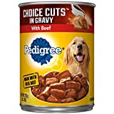 Pedigree Choice Cuts In Gravy With Beef Adult Canned Wet Dog Food, (12) 13.2 Oz. Cans For Sale