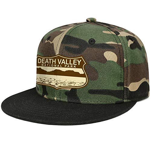- Baseball Hat Death Valley National Park Adjustable Unisex Camouflage Flat Cap Retro Hat