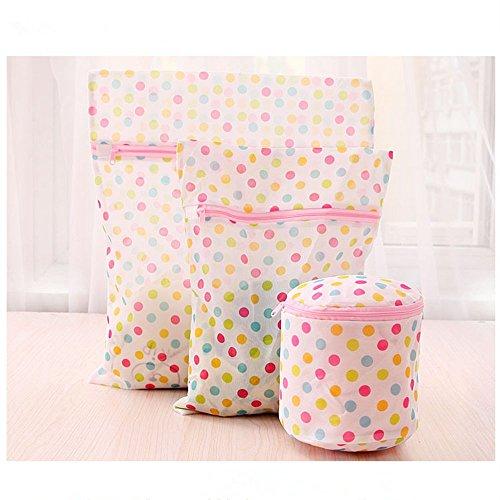 Amian Shop Laundry Bags Bra Wash Bag Underwear Lingerie Sock Mesh Net Wash Basket Bag Polka Dot,2 Laundry Wash...
