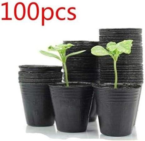Vasi Neri In Plastica.Aom 100x Vasi In Plastica Neri Traspiranti Per Piante Nutritive