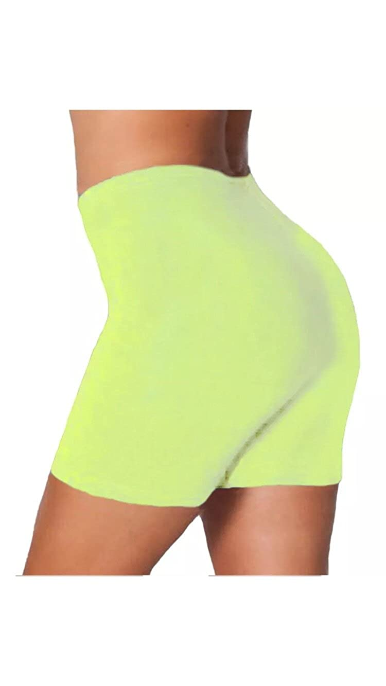 Comfiestyle New Womens 100% Cotton Stretch Cycling Shorts. UK 8-22