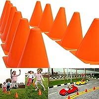 ZREAL 12pcs 18cm Dazzling Toys Traffic Orange Cones