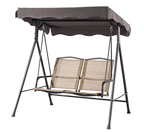 Backyard Classics Porch Swing with Stand and Awning For Sale