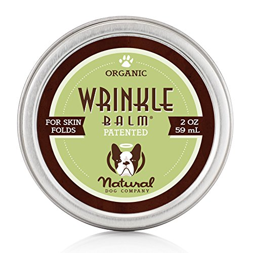 Natural Dog Company Wrinkle Balm Tin | Organic, All-Natural Ingredients Scent-Free | Dog Skin Fold Dermatitis, Redness, Chaffing, Inflammation - 2 Oz by Natural Dog Company