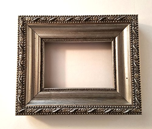 """2 1/2"""" X 3 1/2"""" ACEO Art Antique Silver Wood Picture Frame Assembled"""