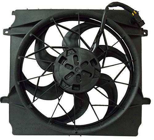 (Sunbelt Radiator And Condenser Fan For Jeep Liberty CH3115143 Drop in Fitment)