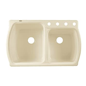 Delightful American Standard 7255.001.345 Chandler Americast Double Bowl Kitchen Sink  With 1 Hole,