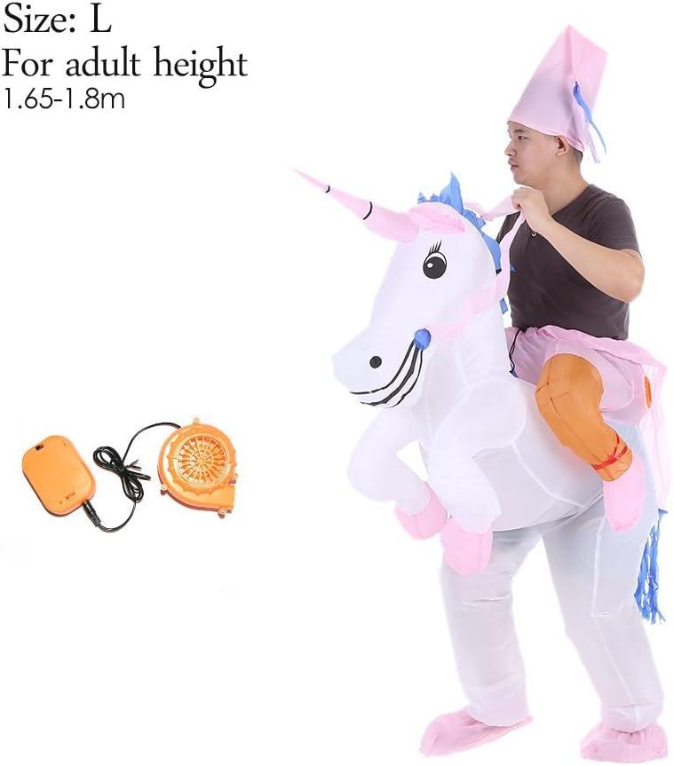 Amazon.com: Disfraz hinchable de unicornio, traje hinchable ...