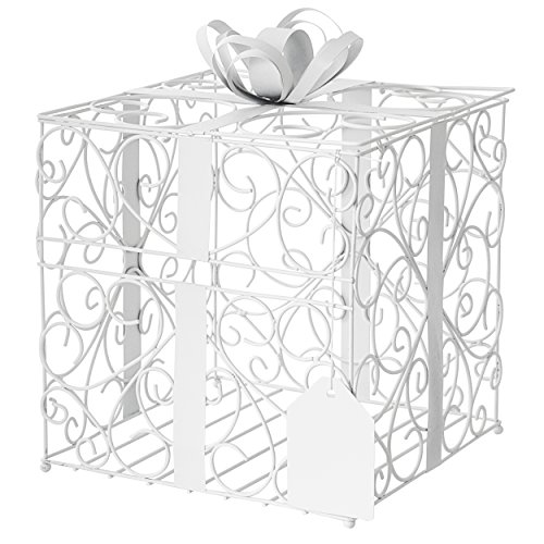 Cathy's Concepts Reception Gift Card Holder, White (White Reception Card)