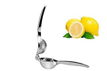 Splink Exprimidor de limones Exprimidores manuales Prensa de acero inoxidable 100% Seguro para la comida