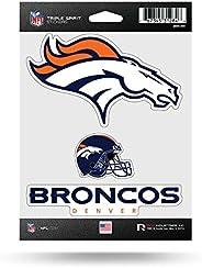 NFL Denver Broncos Die Cut 3-Piece Triple Spirit Sticker Sheet