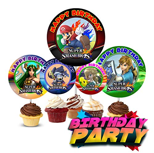 Crafting Mania LLC. 12 Birthday Inspired Party Picks, Cupcake Picks, Cupcake Toppers -