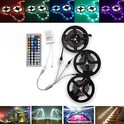 LaDicha 15m SMD3528 Waterproof RGB 900 LED Bande de Ruban Light Kit + 44 Touches Controller + connecteur de cble DC12V