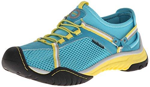 Jambu Women's Bianca Sneaker,Sea Blue/Neon Yellow,6.5 M US
