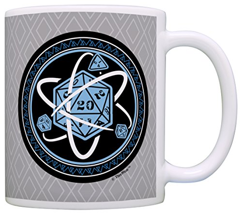 Gamer Mugs D20 Dice Atom Nerdy Mug Critical Hit Role Play Gaming Gift Coffee Mug Tea Cup (Bill Nye Science Guy Costume)