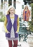 Sirdar Wash 'n' Wear Double Crepe DK Knitting Pattern - 7340 Cardigan and Waistcoat by Sirdar