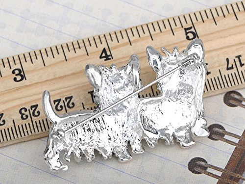 Alilang Cute Black White Shih Tzu Terrier Dog Puppy Love Enamel Cartoon Furry Animal Brooch Pin by Alilang (Image #3)