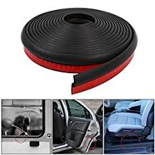 4M/13ft Z Shape Adhesive Car Window Door Rubber Seal Weather Strip Edge Trim for Noise Insulation - Black