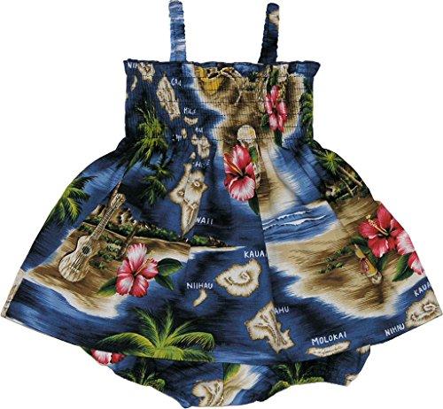 RJC Baby Girls Tropical Island Escape Smocked Hawaiian 2 Piece Dress Set