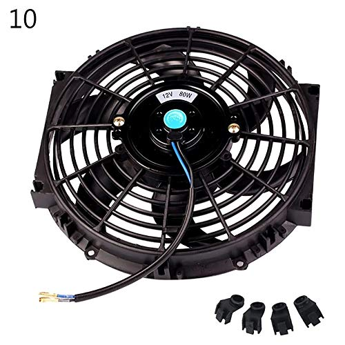 ZUEN 10Inch 12Inch 14Inch Universal Car Radiator Fan Slim Push Pull Electric Engine Cooling Fan 12V,A: Amazon.co.uk: Sports & Outdoors